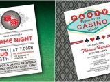 Casino theme Party Invitations Template Free Casino Invitations Template Best Template Collection