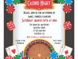 Casino theme Party Invitations Template Free Casino Night Party event Invitation Zazzle Com
