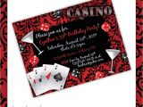 Casino theme Party Invitations Template Free Casino Party Invitations Casino Blush by