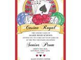 Casino themed Wedding Invitations Casino Prom Invitations Paperstyle