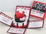 Casino themed Wedding Invitations Las Vegas Casino themed Exploding Box Invitation W 3 Tier