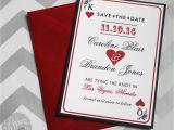 Casino themed Wedding Invitations Las Vegas Save the Date Casino theme Save the Date with Free