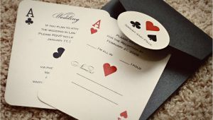 Casino themed Wedding Invitations Set Of Classic Vegas or Poker themed Wedding Invitations