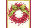 Caspari Christmas Party Invitations Caspari Berry Wreath Boxed Christmas Cards Paperstyle