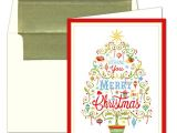 Caspari Christmas Party Invitations Caspari Merry Christmas Tree Foil Christmas Cards Paperstyle