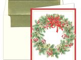 Caspari Christmas Party Invitations Caspari Personalized Wintergreen Wreath Christmas Cards