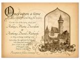 Castle Wedding Invitations Design Fairy Tale Castle Wedding Invitation Medieval once Upon A Time