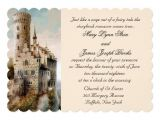 Castle Wedding Invitations Design Royal Fairytale Castle Wedding Invitation Zazzle