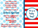Cat In the Hat Baby Shower Invites Cat In the Hat Baby Shower
