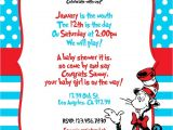 Cat In the Hat Baby Shower Invites Custom Dr Seuss themed Printable Digital Baby Shower