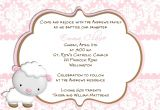 Catholic Baptism Invitation Wording Baptism Invitations In Spanish Wording for Baptism