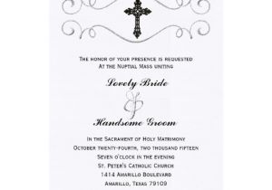 Catholic Wedding Invitation Template Elegant Celtic Cross Catholic Wedding Invitation Zazzle Com