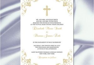 Catholic Wedding Invitation Template Items Similar to Catholic Wedding Invitation Template Diy