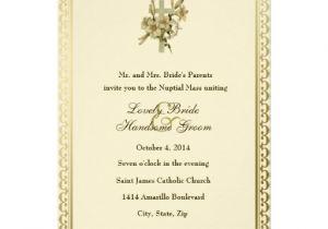 Catholic Wedding Invitation Template Wedding Invitation Wording Wedding Invitation Wording