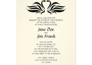 Catholic Wedding Invitation Template Wedding Invitation Wording Wedding Invitation Wording