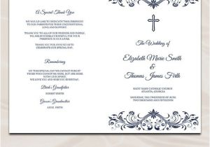 Catholic Wedding Invitation Template Wedding Program Wording Example Example Of Wedding
