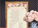 Celebrity Baby Shower Invitations Celebrity Baby Name Game Baby Shower Game Girl by