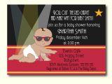 Celebrity Baby Shower Invitations Red Carpet Baby Shower Invitation Celebrity Babies