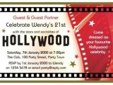 Celebrity Party Invitations 40th Birthday Ideas Hollywood Birthday Invitation