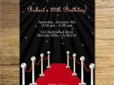 Celebrity Party Invitations Red Carpet Birthday Party Invitation Glam Hollywood