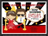 Celebrity Party Invitations Red Carpet Birthday Party Invitations Drevio Invitations