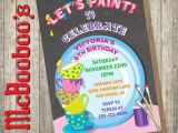 Ceramic Party Invitations Ceramic Pottery Painting Party Invitations