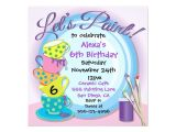 Ceramic Party Invitations Ceramic Pottery Painting Party Invitations Zazzle Com