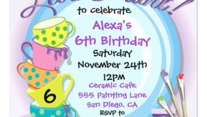 Ceramic Party Invitations Ceramic Pottery Painting Party Invitations Zazzle