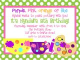 Ceramic Party Invitations Printable Birthday Invitations Girls Pottery Painting Party