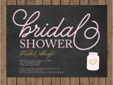 Chalkboard Mason Jar Bridal Shower Invitations Chalkboard Bridal Shower Invitation Mason Jar