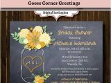 Chalkboard Mason Jar Bridal Shower Invitations Chalkboard Floral Mason Jar Bridal Shower Invitation