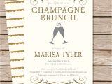 Champagne Brunch Bridal Shower Invitations Champagne Brunch Bridal Shower Invitation Bridal Brunch