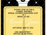 Chanel Inspired Bridal Shower Invitations 1000 Images About Chanel themed Birthday Party On