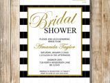 Chanel Inspired Bridal Shower Invitations Black and White Stripes Bridal Shower Invitation Coco