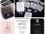 Chanel Inspired Bridal Shower Invitations Chanel themed Party Invitations A Birthday Cake
