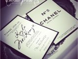 Chanel Inspired Bridal Shower Invitations Coco Chanel Inspired Black & White Shower Invitations