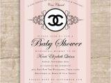 Chanel Party Invitation Template Chanel Baby Shower Chanel Baby Shower Allison Gellner