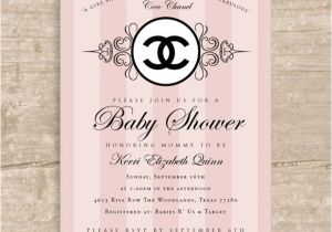 Chanel Party Invitation Template Chanel Baby Shower Chanel Baby Shower Allison Gellner