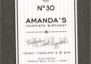Chanel Party Invitation Template Chanel Inspired Birthday Party Invitation Party Ideas