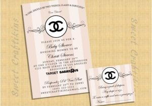 Chanel Party Invitation Template Chanel Invitation Baby Shower Birthday Invite Digital