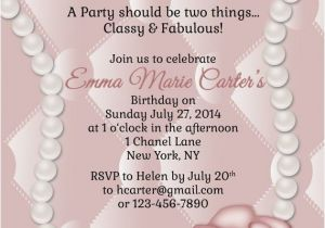 Chanel Party Invitation Template Custom Hand Drawn Classy and Fabulous Pink Coco Chanel