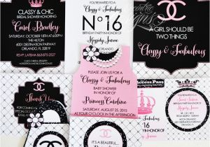 Chanel Party Invitation Template Eccentric Designs by Latisha Horton Revamped Party