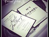 Chanel themed Bridal Shower Invitations Coco Chanel Bridal Shower theme
