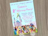 Character Birthday Party Invitations Disney Birthday Invitation Disney Girl Invitation by
