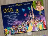 Character Birthday Party Invitations Disney Castle Invitation Disney Characters Invitation Disney