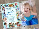 Character Birthday Party Invitations Disney Invitation Boy or Girl Invitationdisney Characters