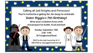 Character Birthday Party Invitations Star Wars Kids Character Birthday Party Invitations