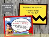 Charlie Brown 1st Birthday Invitations 62 Best Sam S 1st Birthday Images On Pinterest