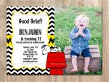 Charlie Brown 1st Birthday Invitations Charlie Brown Birthday Invitation Snoopy for All Ages
