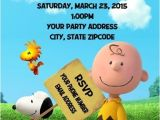Charlie Brown 1st Birthday Invitations Charlie Brown Snoopy Peanuts Birthday Party Invitations